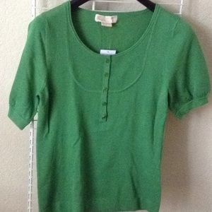 New with tags Michael kore Sierra green blouse